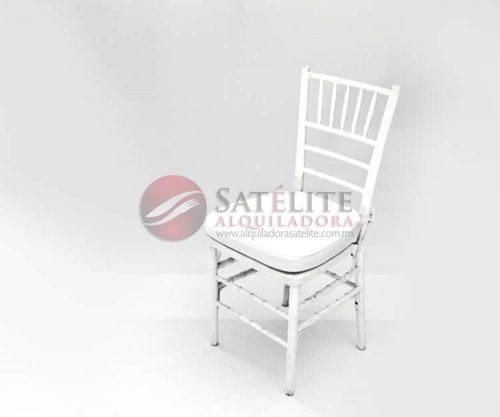 Silla Tiffany blanca de resina
