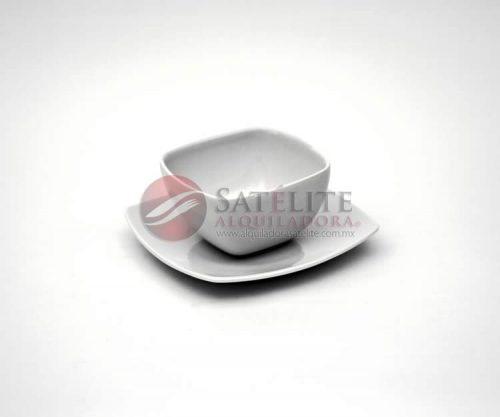 Tazón y plato cuadrado Corona de 17 cm