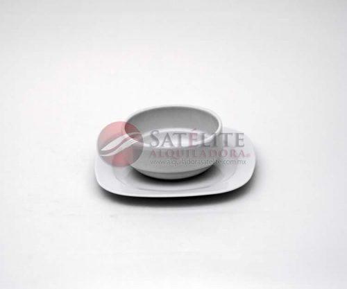 Tazón y plato cuadrado Mkm de 21 cm