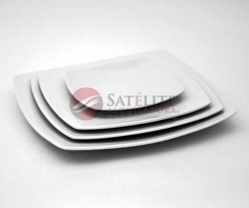 Platos cuadrados Corona de 31, 29, 27 y 17 cm
